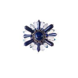 Брошь «Ослепительные звезды» (синий)