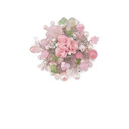 Брошь «Розовый сад»