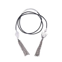 Колье-трансформер «Мегаполис» (черный, серебряный, белый)