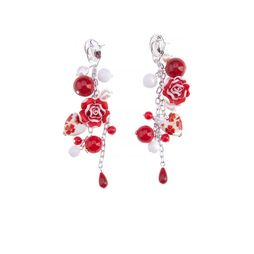 Серьги «Алые розы»