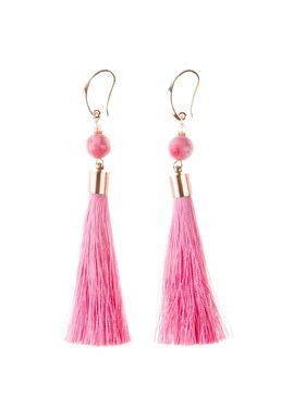 Серьги-кисти «Шелест шелка» (розовый)