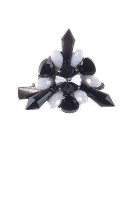 Брошь «Ослепительные звезды» (черный, белый)