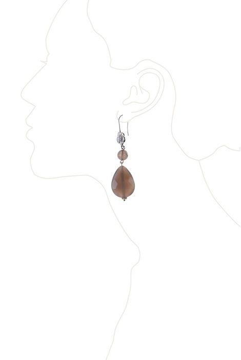 Серьги «Вечернаяя дымка» (халцедон, раух-топаз)