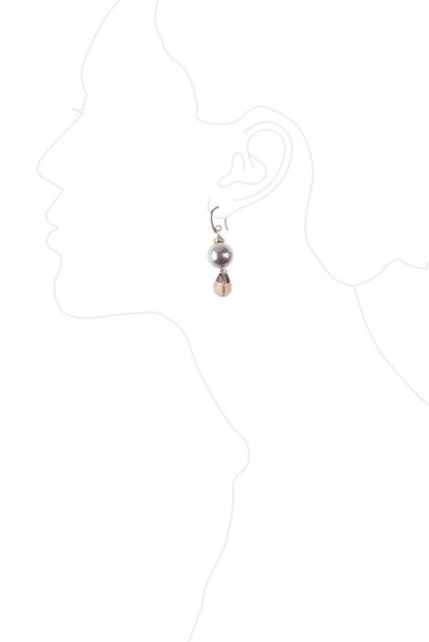 Серьги «Вечернее серебро» (раух-топаз, майорка)