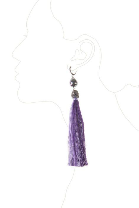 Серьги-кисти «Шелест шелка» (сиреневый, фиолетовый, черный)