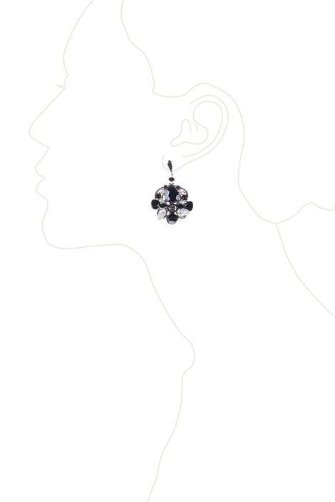 Серьги «Серебряное кружево» (черный, белый)