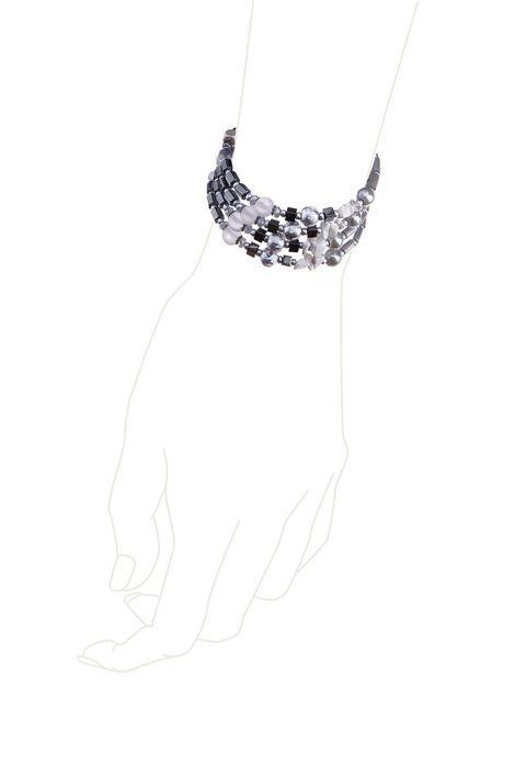 Браслет «Серебро на мраморе»