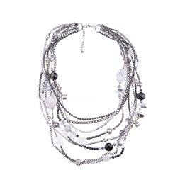 Колье «Серебро на мраморе»