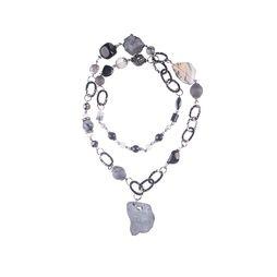 Колье-кулон «Черное серебро»
