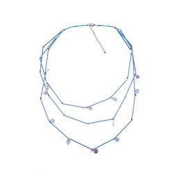 Колье «Мегаполис» (голубой, сиреневый)