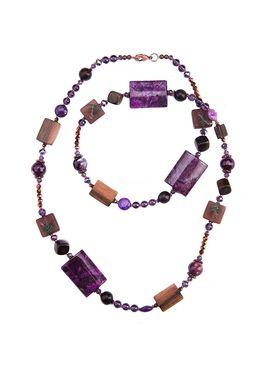 Бусы «Пурпур в бронзе»