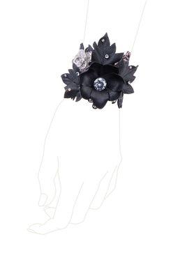 Браслет «Черный лес» (черный, серебряный)