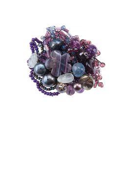 Брошь «Прекрасная Дама» (фиолетовый)