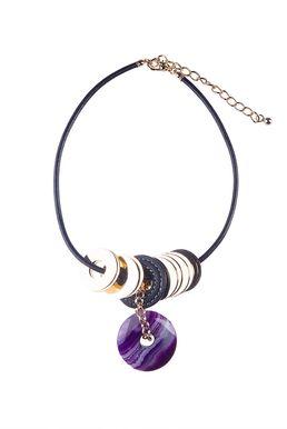 Колье «Мегаполис» (фиолетовый, черный, золотой)