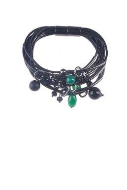 Браслет «Мегаполис» (черный, зеленый)