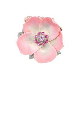 Брошь- кулон «Волшебный сад Феи» (розовый, салатовый, золотой)
