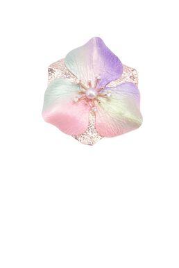 Брошь- кулон «Волшебный сад Феи» (розовый, сиреневый, салатовый, золотой)