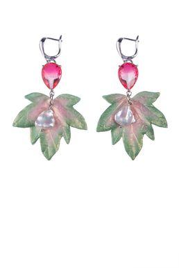Серьги «Волшебный сад Феи» (салатовый, розовый)