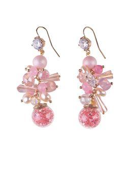 Серьги «Танец радуги» (розовый)