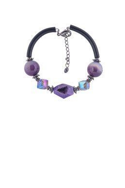 Браслет «Рондо» (фиолетовый, черный)