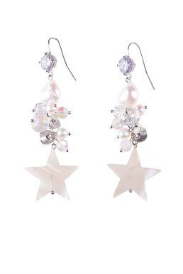 Серьги «Белая звезда»