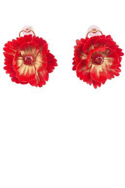 Серьги «Волшебный сад Феи» (красный, золотой)