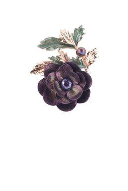 Брошь- кулон «Волшебный сад Феи» (фиолетовый, зеленый, золотой)