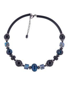 Колье-гривна «Рондо» (черный, синий)