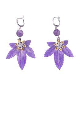 Серьги «Волшебный сад Феи» (фиолетовый)