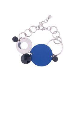 Браслет «Мегаполис» (синий, черный, серебряный)