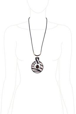 Колье-кулон «Мегаполис» (черный, белый, золотой)
