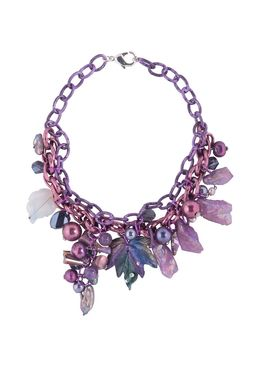 Колье «Колдовство лилового цвета»