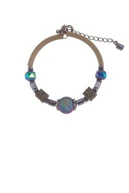 Браслет «Рондо» (оливковый, фиолетовый)