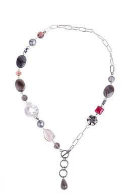 Колье-галстук «Старинное серебро»