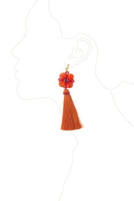 Серьги-кисти «Шелест шелка» (оранжевый)