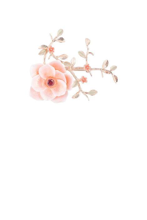 Брошь- кулон «Волшебный сад Феи» (розовый, зеленый, золотой)