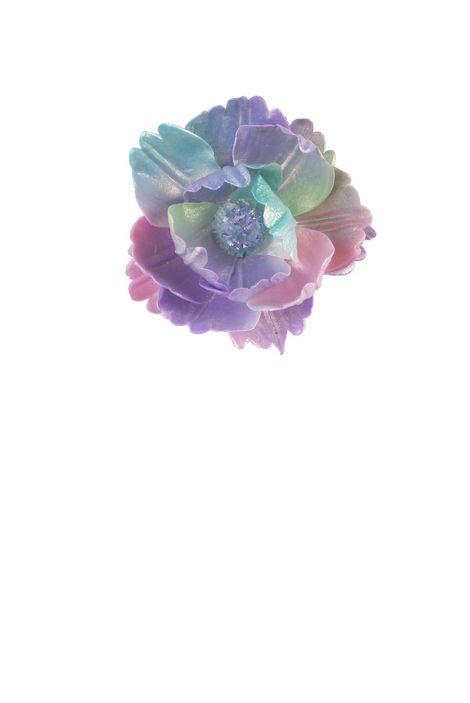 Брошь- кулон «Волшебный сад Феи» (розовый, салатовый, сиреневый, золотой)