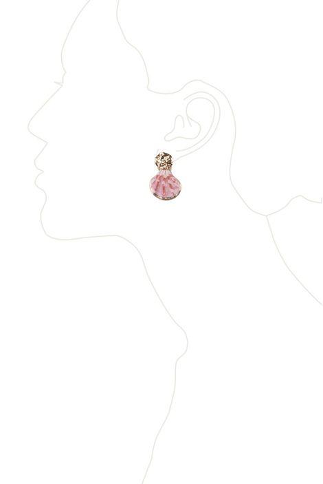 Серьги «Золотой остров» (розовый, золотой)