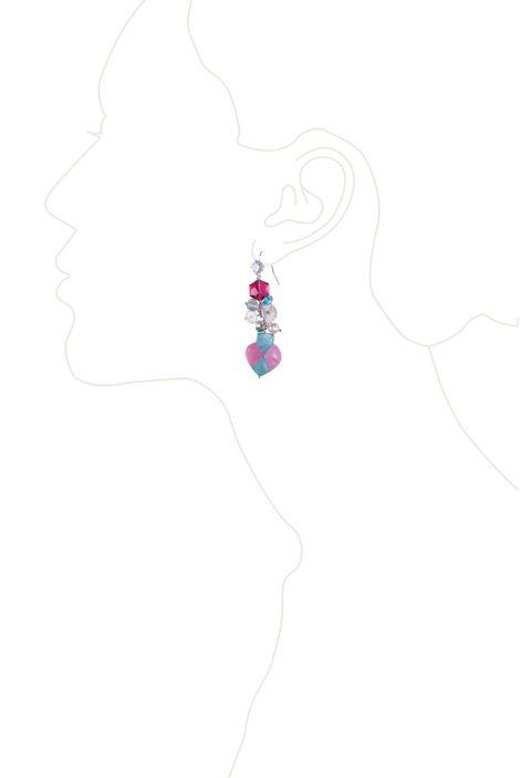 Серьги «Розовое домино»
