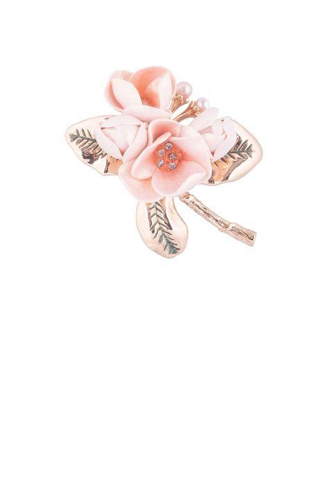 Брошь- кулон «Волшебный сад Феи» (розовый, золотой)