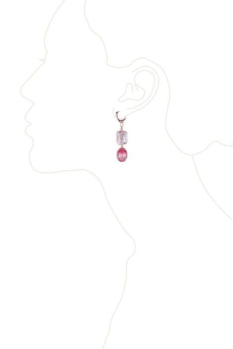 Серьги «Бал драгоценностей» (розовый, золотой)