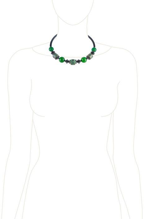 Колье-гривна «Рондо» (зеленый, черный)