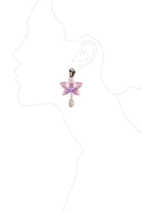 Серьги «Волшебный сад Феи» (розовый, сиреневый, золотой)
