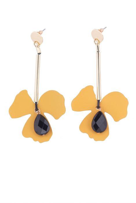 Серьги «Цветы Мегаполиса» (сливовый, золотой, черный)