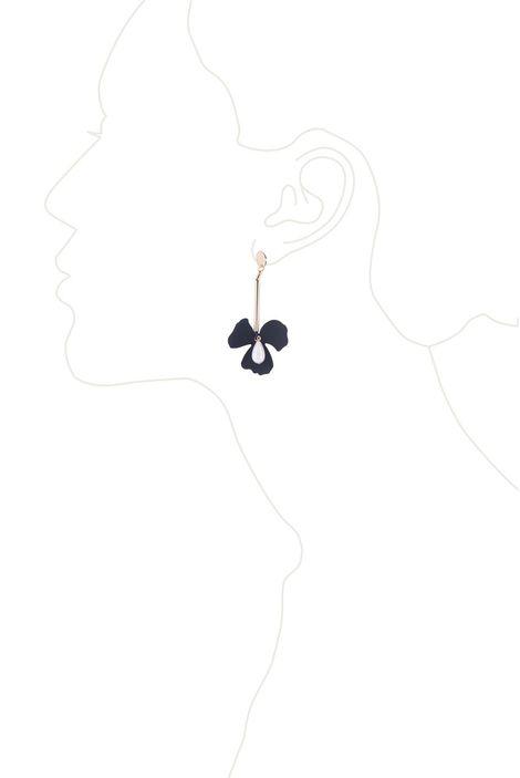 Серьги «Цветы Мегаполиса» (черный, золотой, белый)