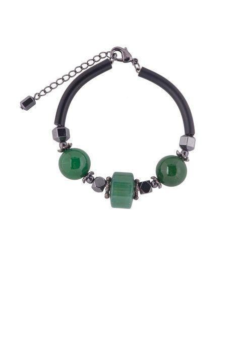Браслет «Рондо» (зеленый, черный)