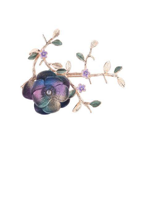 Брошь- кулон «Волшебный сад Феи» (фиолетовый, синий, зеленый, золотой)