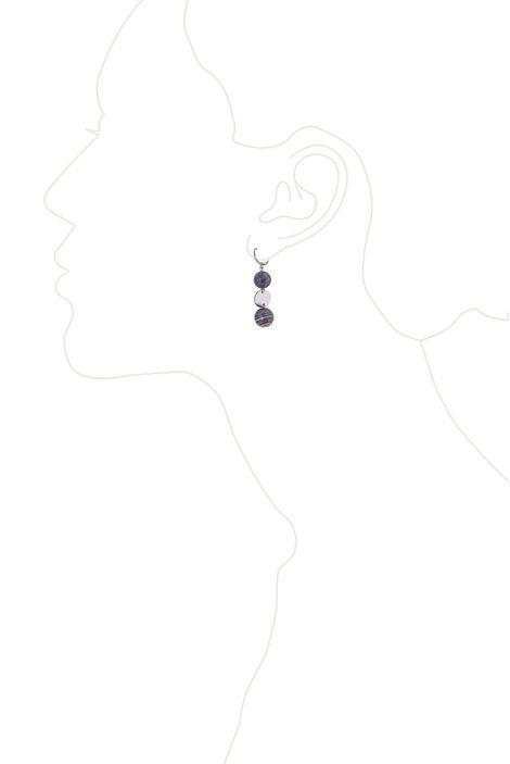 Серьги «Мегаполис» (серый, серебряный)