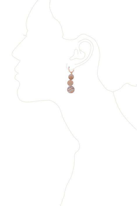 Серьги «Мегаполис» (бежевый, золотой)