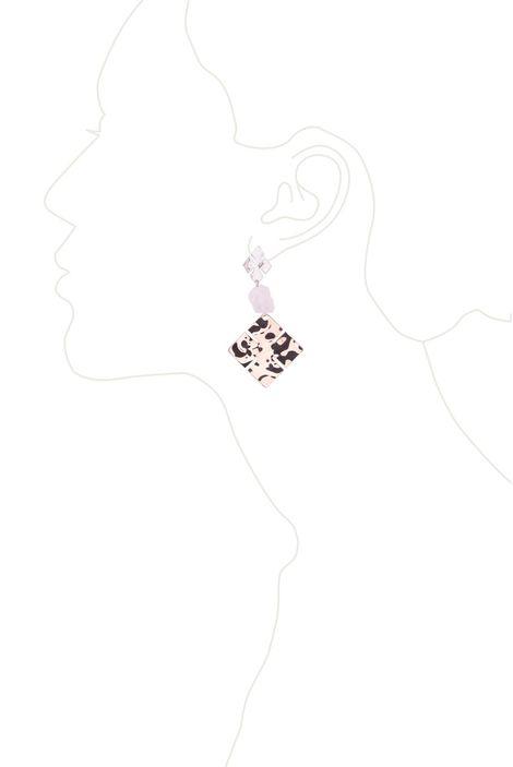 Серьги «Мегаполис» (розовый, серебряный, золотой)